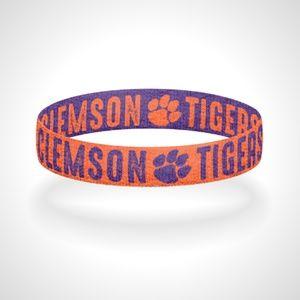 Reversible Clemson Tigers Bracelet Wristband